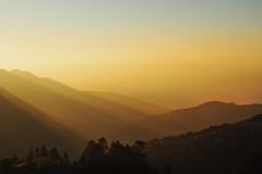 Sunrise on the Himalayan Range Nepal (elenaleong) Tags: nature sunrise landscape himalayas acap poonhill snowmountains goldensunrise annapurnaconservationareaproject nepaljomsomtrekking hilmalays