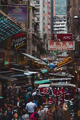 Street (tocausan) Tags: china street hongkong asia crowdy