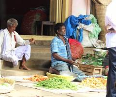 Haggling (bluelotus92) Tags: people india vegetables market marketplace karnataka mysore haggling vegetableseller mysuru devarajursmarket devarajaursmarket