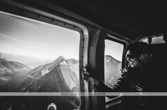 Banff Helicopter ride (Naomi Rahim (thanks for 2 million hits)) Tags: travel bw canada window blackwhite nikon view seat transport flight wanderlust helicopter alberta banff rockymountains banffnationalpark canadianrockies 2015 travelphotography alpineadventures nikond7000 naomirahim
