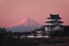 Fuji and Sekiyado Castle (Yuga Kurita) Tags: fuji fujisan fujiyama mount mt japan landscape castle japanese sekiyado sekiyadojo beni aka benifuji akafuji red pink morning