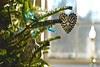 Tie a Blue Silk Ribbon on the Tree (smilla4) Tags: christmastree ornament blue ribbon window bokeh maine holidaydecorations depthoffield shadow