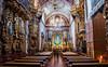 2016 - Mexico - Querétaro - Templo de Santa Rosa de Viterbo (Ted's photos - For Me & You) Tags: 2016 cropped mexico queretaro santiagodequeretaro tedmcgrath tedsphotos tedsphotosmexico vignetting nikon nikonfx nikond750 templodesantarosadeviterbo templodesantarosadeviterboqueretaro queretarotemplodesantarosadeviterbo pews seating church churchinterior aisle sha