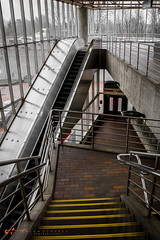 south station-28 (alanschererphotographer) Tags: boston redline train southstation excalator stairs travel transportation alanschererphotographer subway bostonphotographer blackandwhite people reallife truestory