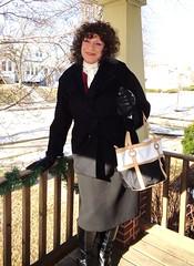 Woman At Large (Laurette Victoria) Tags: coat brunette gloves winter laurette woman