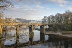 Crook O'Lune dawn.(Explored). (miketonge) Tags: bridge railwaybridge winter river lune lancaster caton turner jmwturner lancashire frost trees nikon 750