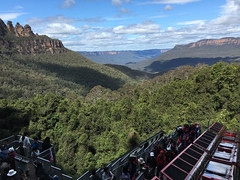 Scenic Railway view (smurfie_77) Tags: brisbanetosydney roadtrip newsouthwales nsw thebluemountains nationalpark scenicworld themepark katoomba scenicrailway steepestrailwayintheworld worldssteepestrailway cliffhanger thethreesisters 3sisters