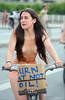 WNBR London 2014: Peaceful road safety protestor (pg tips2) Tags: wnbr london wnbr2014