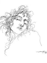 P1016050 (Gasheh) Tags: art painting drawing sketch portrait woman line pen gasheh 2017