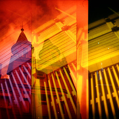 light and concrete (pho-Tony) Tags: doubleexposure pop9 trilogy3d1000 supersampler colourfilters mixeddoubles fujirenshacardia toycameras triple quadruple multiple layer collage overlay accident serendipity chance filter multipleexposure 35mm 135 ishootfilm toy toycamera lomo lomography leefilters nimslo multiplelenses