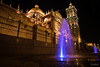 A golden walk (photographyzimbo) Tags: 2017 201701 color gear mexico puebla sonyalpha7rii when zeissbatis25mmf20 zocalo blue camera christmas daytime lamp lens light lighttrails longexposure night nightphotography seasons streetphotography heroicapuebladezaragoza mx