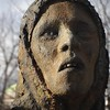 DSC08855 (iCWithMyLittleEye) Tags: face woman statue ireland iron gaunt famine rust depressed teeth sculpture