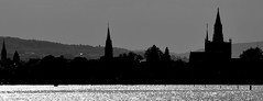 Konstanz contour (Anoplius) Tags: anoplius konstanz badenwürttemberg bodensee blackandwhite monochrome germany deutschland lake water wasser city