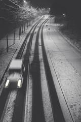 2017_01_14(17) (bas.handels) Tags: heerlen street night longexposure longexpo le snow sneeuw winter urban blackwhite bnw mono desaturate fade faded fuji fujixt1 xt1