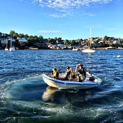 Foamy, M and a boatful of kids