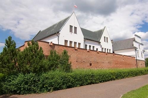 Zamek w Gosławicach od południowego zachodu