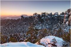 Rathener Winter (Rico Richter) Tags: sächsische schweiz rathen bastei winter lilienstein landschaft landscape sonnenaufgang schnee