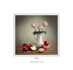 ...................... (.... belargcastel ....) Tags: bodegón still stilllife manzanas rosas flores roses flowers apple texturas belargcastel belénargüeso españa spain galicia