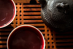 Tea Time (Robert Borden) Tags: tea chai cha puer set tray pot hot stilllife perspective wood ceramic