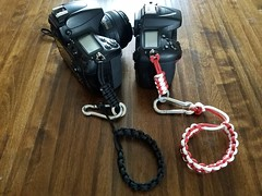 My Camera hot swap leashes have been a big hit here locally, if anyone else wants one, I have 4 colors and you can do 2 color combos as well, made for quick changing your camera without taking the bracelet part off, very convenient and much more comfortab (RedPhone_media) Tags: camera strap wrist leash never drop your gear again diy handmade strong durable quick swap hot nikon canon pentax fuji fujifilm olympus handheld wedding shooter shoots photographer best friend redphone