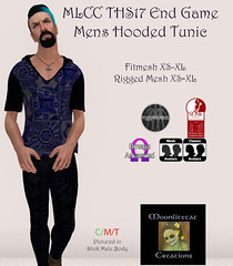 MLCC TH17 End Game Mens Hooded Tunic Ad Pic (moonlitecat) Tags: moonlitecat creations second life secondlife twisted hunt 2017 infinity cabin bar ride cubes hellraiser tonic ebody belleza maitreya slink physique hourglass prim mesh fitmesh rigged omega appliers rug cuddle sexy tunic pants slacks dress ribbon animation coffee table chairs chair seat sit rideable able green blue blurple crome materials see through stool barstool shelves spinning art original creative moonlite moon