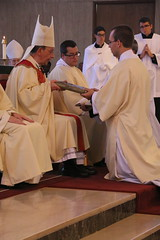 New Deacon receives the Book of the Gospels