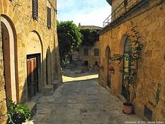 Montichiello, Il borgo, The ancien village (michele masiero) Tags: italia siena toscana valdorcia vicolo borgo montichiello fotosketcher ilborgodimontichiello