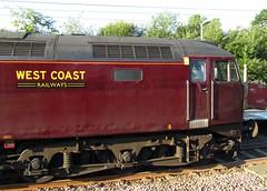 Diesel special at Hockley station, Essex (Deptford Draylons) Tags: england trains railways essex hockley passengertrains networkrail class47 westcoastrailways dieselelectriclocomotives specialtrains locohauledtrains