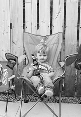 Starting young (PabloTheDonkey) Tags: birthday party 35mm nikon son august bbq 2nd bobby d3200