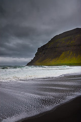 Stormy Shore (Petur 'Wazhur' Jonsson) Tags: ocean mountain storm beach nature water canon landscape outdoors photography eos photo iceland waves shore fjord efs f28 wather lightroom westfjords 30d 1755