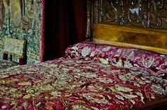 Historic bedroom in Chateau Chenonceau (Arjan Hamberg) Tags: france castle bed bedroom interior interieur frankrijk chateau chenonceau slaapkamer kasteel