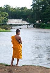 Young monk (Orocoshots) Tags: life voyage street travel viaje boy portrait orange color art colors canon children photography eos photo asia child monk monks viatge laos popular markii bouddhism tadlo