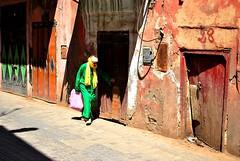 Marrakech (Manlio'77) Tags: africa woman northafrica morocco maroc marocco marrakech oldwomangreendressgreenstreetphotographystreetstreetscene