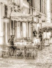 Escena urbana. Roma. (David Muñoz P.) Tags: street blackandwhite roma streetphotography ita