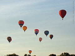 Huff n' Puff in Morning, 12 Sept 2015 (photography.by.ROEVER) Tags: morning color colour colors balloons colours balloon flight september event kansas hotairballoon topeka hotairballoons 2015 lakeshawnee shawneecounty september2015
