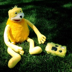 Flat Eric (BLACK EYED SUZY) Tags: camera summer grass doll flateric mroizo hipstamatic oggl