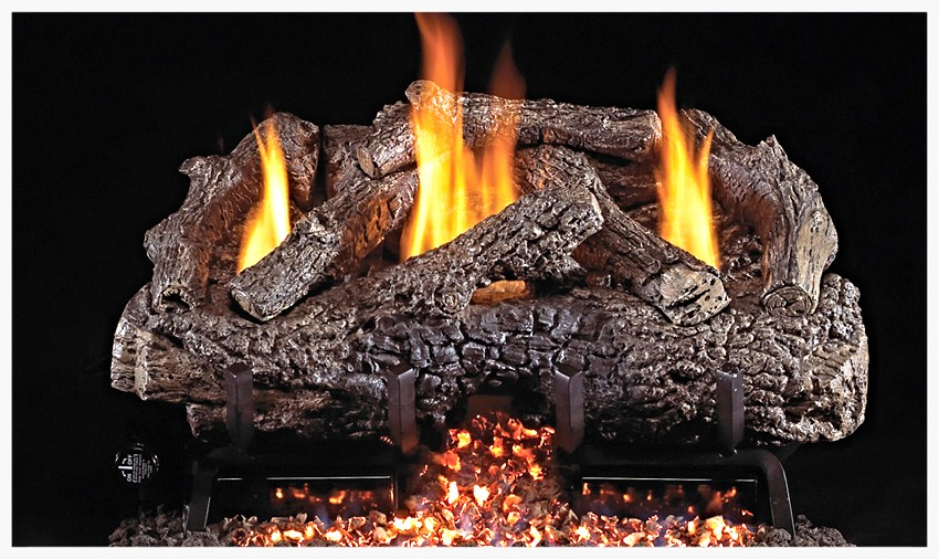 Real Fyre G-10 Unvented Charred Frontier Gas Log Set