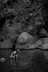 Siren (ThatHipsterHapa) Tags: portrait monochrome swimming canon landscape photography blackwhite losangeles candid highcontrast diving malibu bikini beautifulwoman southerncalifornia ventura calabasas malibucreekstatepark landscapephotography canon60d thathipsterhapa