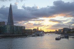 sunset on thames (BasuMitra) Tags: sunset london thames londonbridge hdr londonhdr sunsetonthames