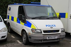 Cheshire Police Ford Transit Station Van (PFB-999) Tags: ford ex station manchester cheshire cell police headquarters cage can transit vehicle leds greater hq beacons gmp grilles unit constabulary lightbars winsford rotators fendoffs mx54yct