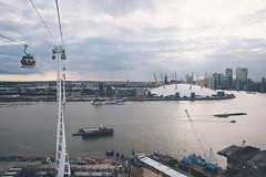 London View (Matthew-King) Tags: london cars thames river air greenwich o2 millenium cable line arena emirates airline dome peninsula