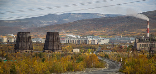 Russia, industrial area in Apatity ©  Ninara