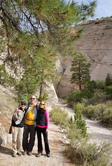Off we go into the slot canyon - Pammy, Fredo & LaLo