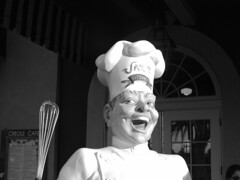 Jazz Kitchen Chef (vickilw) Tags: bw hat chef headgear week17 cmwd 7daysofshooting blackandwhitewednesday
