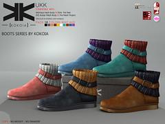 Ukk :: Ankle Boots :: 10 Colors ({kokoia}) Tags: eve woman boot sock shoes mesh boots sl ankle tmp ukk maitreya slink secondlfie kokoia themeshproject