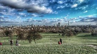 London on a sunny and very cold day