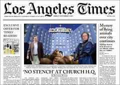LA Times Spoof (marknpm1) Tags: david reed drag los angeles or fear satire case odd infiltration silence scientology cult times spoof scheme litigation ponzi shoop slatkin miscavige markpm marksshoops marknpm