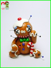 Gingybreadmen (Jam Butty Crafts's Voodoo Dolls) Tags: christmas sculpture polymerclay christmasdecoration christmasjoy voodoodolls gingerbreadmen christmastreedecoration claydolls jambuttycrafts voodoodollsandzombiefriends