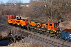 BNSF 3448 (dan mackey) Tags: duluth bnsf papermill emd sw1500 burlingtonnorthernsantafe westduluth duluthminnesota mp15dc mp15 bnsf3448 bnsf3702