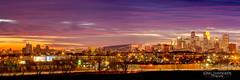 Purple Town (Greg Lundgren Photography) Tags: sunset panorama minnesota skyline architecture night skyscraper twilight purple magenta minneapolis brc wellsfargo twincities vikings hdr ids cityofminneapolis greglundgren onlyinmn ridgewaypark captureminnesota usbankstadium